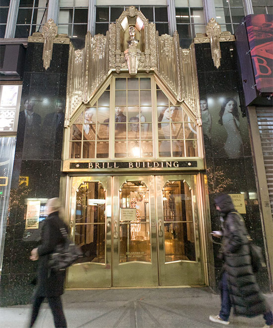 Photo of the Brill Building in NYC - headquarters of the John Gore Organization